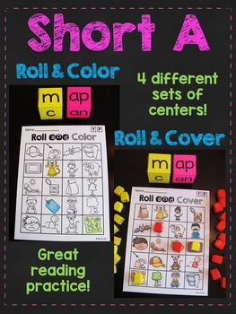 Short A CVC Words Roll Centers