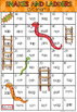 Short A CVC Words Snakes and Ladders Game