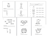 "Short ""A"" CVC readers and worksheet"
