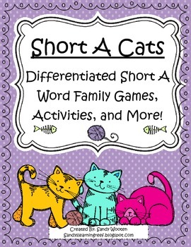 Short A Cats Differentiated Word Family Games, Activities,