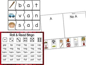 Short A Center Bundle (10 ActivBoard Centers + 10 Literacy Centers)