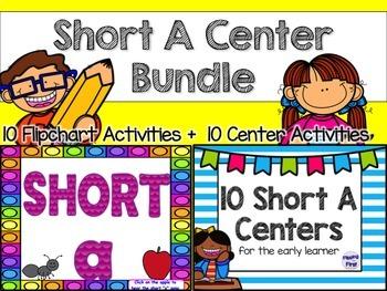 Short A Center Bundle (10 ActivBoard Centers + 10 Literacy