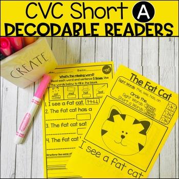 CVC Short A Decodable Books #christmasinjuly
