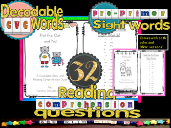 Short A Decodable Reader-sight words,word families, readin