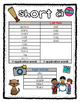 Short A Differentiated Lists and Cards