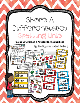 Short A Differentiated Spelling Unit