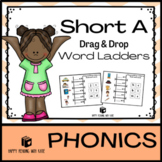 Short A Drag & Drop Word Ladders - with audio recorded ins
