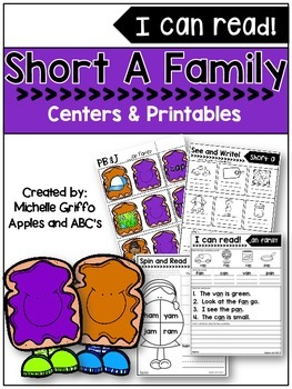 Short A Family- I Can Read!