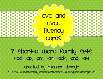Short-A Fluency Cards