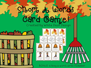 Short A Fluency Game! {FALL Theme}