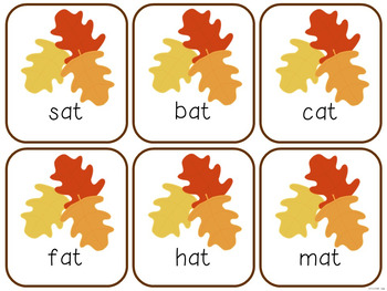 Short A Fluency Game! {FALL Theme}