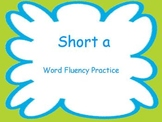 Short A Fluency Powerpoint Flash Cards ~ Real and Nonsense Words