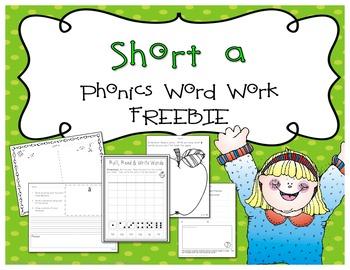 Short A Freebie {From Short Vowel Bundle}