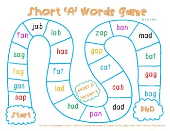 Short A Game Boards (CVC Words)