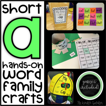 Short A Hands-On Word Family Crafts