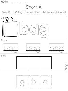 Short A Interactive Activities