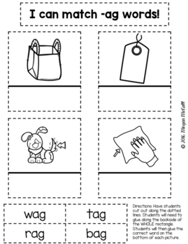 Short A Interactive Notebook (CVC Words)
