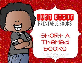 Short A Just Right Printable Books