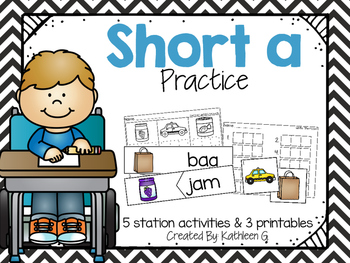 Short A Literacy Station Pack
