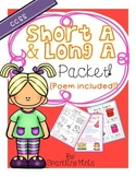 Short A Long A Packet (Poem Included!)