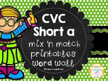 CVC Short A Matching Flip booklet