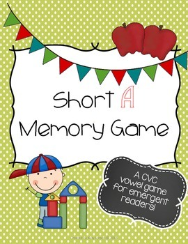 Short A Memory Game ~ FREEBIE