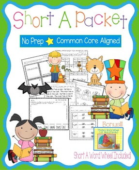 Short A No Prep Packet - Worksheets, Games and Activities, Common Core Aligned