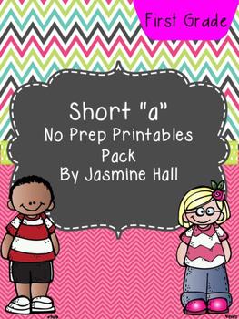 Short A No Prep Printables