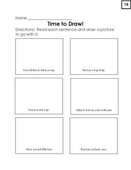 Short A Packet of Worksheets, Words, Lists, and Sentences (Lots of Goodies!)