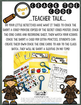 Short A Phonemic Awareness & Phonics Activity - Crack the Code