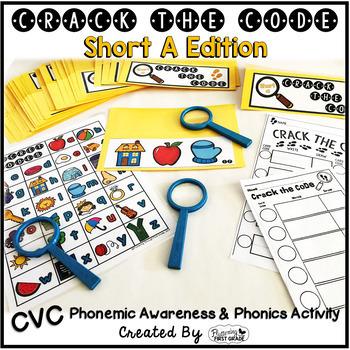 Short A Phonemic Awareness & Phonics Activity - Crack the Code