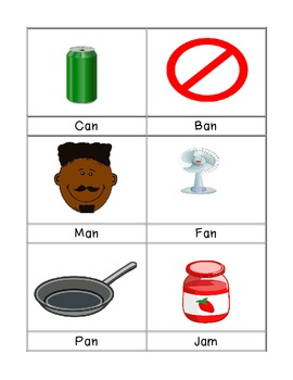 Short A Phonics Activity Cards