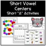 Short Vowel Centers - Short A Activities