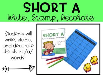 Short A Phonics Word Work Activities