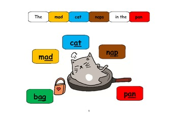 Short A Phonics with Rhyming words +  Game Board