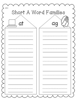 Short A Phonics/Word Work Activities
