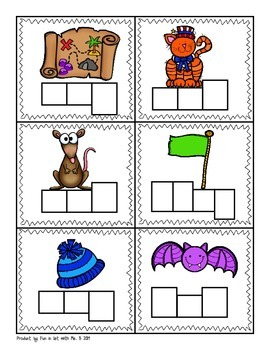 Short A Picture Sort with Spelling Boxes