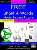 FREE Short A Literacy Center Game