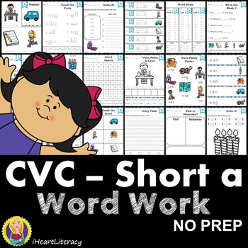 CVC Short A Word Work and Activities