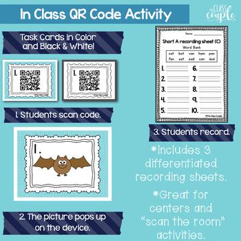 Short A QR Code Task Cards