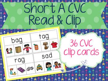 Short A Read & Clip Cards