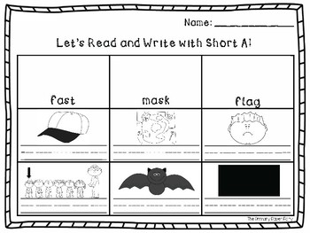 Short A Read and Write Freebie