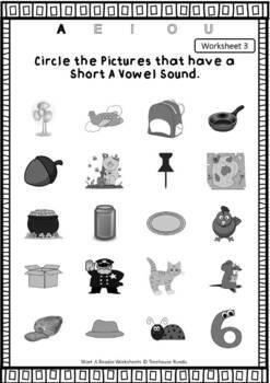 Short A Vowel Reader & Worksheets FREEBEE