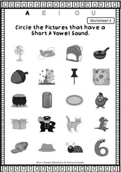 Short Vowel A Reader & Worksheets & Flashcards: Pat the Cat