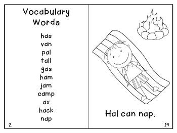 Short A Reader3- Hal and Nat Can Camp
