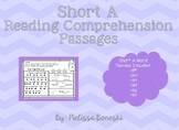 Short A Reading Comprehension Passages