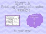 Short A Reading Comprehension Passages