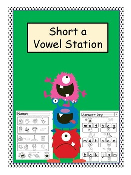 "Short ""A"" in the Middle Stations - worksheets, games and more!"