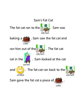 Short A Rebus - Sam's Fat Cat