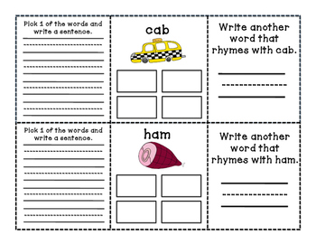 Short A Rhyming Book (Word Families)